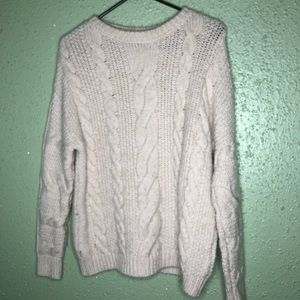H&M Cream Cable Knit Sweater Large